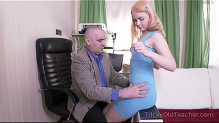 Tricky-Old-Teacher---Old-but-tireless-teacher-satisfies-blonde