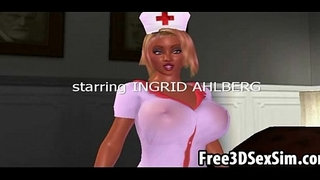 Sexy-3D-cartoon-nurse-sucking-cock-and-getting-fucked