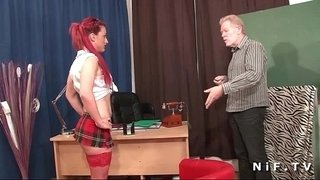 French-redhead-slut-gets-her-ass-fucked-in-threeway-at-school