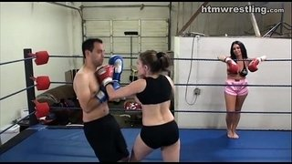 Femdom-Boxing-Beatdowns---Wimp-Gets-Dominated