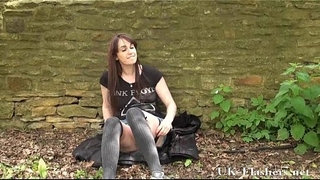Daring-public-flasher-and-outdoor-amateur-babe-exposing-firm-tits-and-shaved