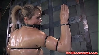 Bound-roughsex-sub-tied-up-while-riding-toy