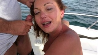 Wife-giving-a-friend-a-blow-job-while-four-of-us-watch-him-bust-his-load-on-her
