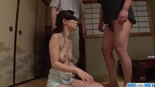 Misaki-Yoshimura-throats-cock-with-her-eyes-covered