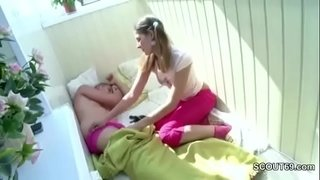 Step-Sister-Wake-Him-Up-to-Get-First-Anal-Fuck-and-Facial