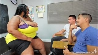 Busty-Black-BBW-Teacher-Fucks-2-Hung-Stud-Students