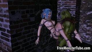 Tied-up-3D-elf-babe-getting-fucked-hard-by-an-orc