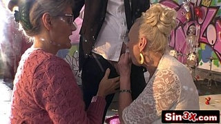 Crazy-Italian-Talent-Show-XXX-Fucktory---Outrageous-Double-Granny-Blowjob