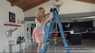 Deep-close-up-anal-with-girlfriend-on-ladder