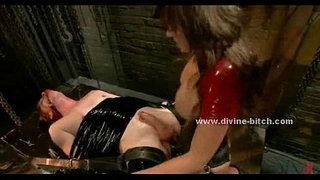 Two-gorgeous-Mistresses-kiss-and-fuck