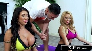 Bored-Huge-Tit-Housewives-August-Taylor-&-Summer-Brielle-Share-a-Yoga-Instructor