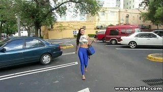 POVLife-Busty-latin-punk-babe-fingered-in-the-car