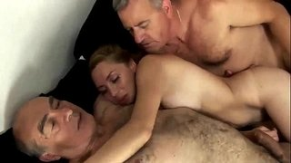 Husband-sharing-his-lovely-sexy-wife-with-old-granpa