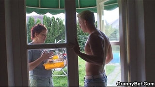 Old-granny-rides-neighbour's-big-cock