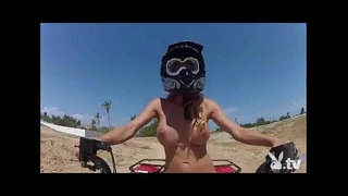 Hot-Girls-Driving-4wheelers-Naked!