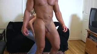 Mistress-took-man's-clothes-off-to-see-his-muscular-body