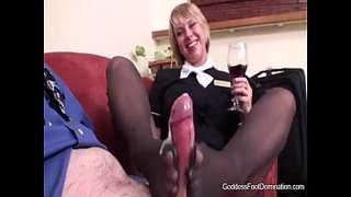 Stewardess-Flight-Footjob