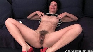 Granny-hides-a-full-bush-in-her-soaked-panties