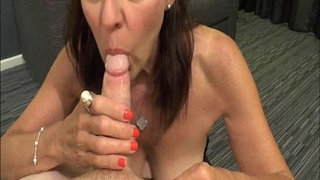 Mature-Georgie-swallowing