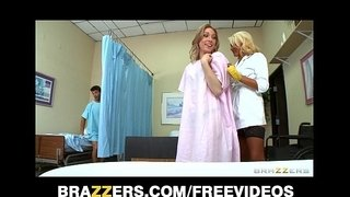 Incredibly-sexy-blond-nurse-gives-her-patients-a-sponge-bath