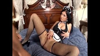 Maid-fucking-in-her-uniform-and-fishnet-stockings