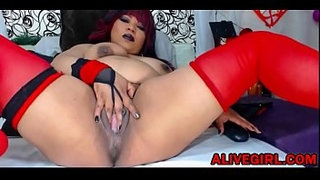 Curvaceous-latina-SQUIRTLOVE-BRUNETTE-squirting-meaty-pussy-ALIVEGIRL