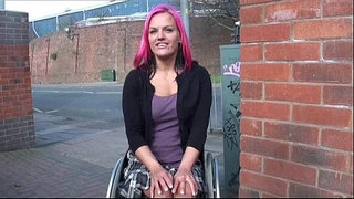 Wheelchair-bound-Leah-Caprice-in-uk-flashing-and-outdoor-nudity