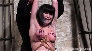 Brutal-amateur-bondage-and-humiliation-of-slave-Louise-Red-in-homemade-bdsm-and-crying-masochist-punishment-of-kinky-brunette-tied-and-punished