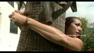 Slave-tied-outside-the-house-from-tree