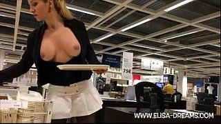 Blonde-girl-flashing-in-public-shop
