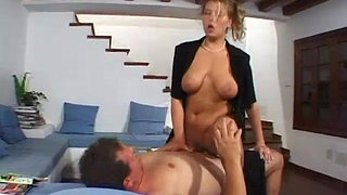 Busty-amateur-girlfriend-home-action-with-cum-on-tits
