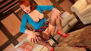 Mature-British-redhead-fingering-and-toying-her-cunt