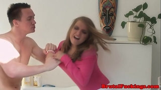 Teen-stepsister-roughly-banged-in-both-holes