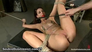 Tied-up-spread-babe-with-gag-ball-in-her-mouth-gets-hard-whipped