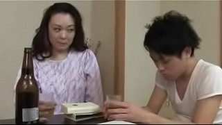 Japanese-Mom-with-Son-Drink-And-Fuck
