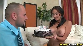 Big-tit-boss-makes-a-cake-to-entice-a-fuck