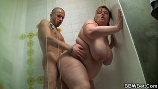 Huge-titted-fatty-screwed-in-the-shower