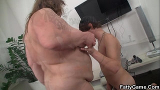 Big-belly-bbw-sucks-and-rides-his-young-cock