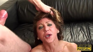 Faketit-UK-submissive-jizzed-in-mouth-in-bdsm