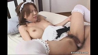 Japanes-babe-fucked-dressed-as-a-maid-Uncensored