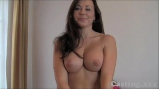 Casting-HD-Huge-facial-for-smiley-tits