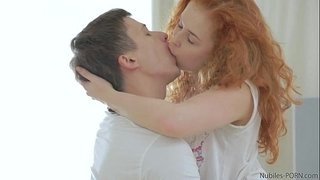 Redhead-amateur-takes-a-mouthful-of-cum