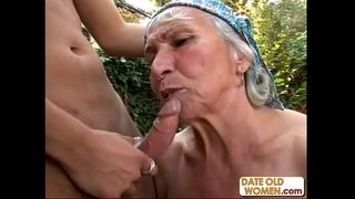 Granny-Gets-Reamed-By-Young-Stud-Outdoors