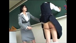 193-Student-Can't-Escape-From-Harsh-Teacher's-Spanking